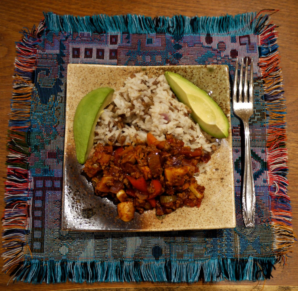 Vegan Chilli with Dirty Rice & Avocados