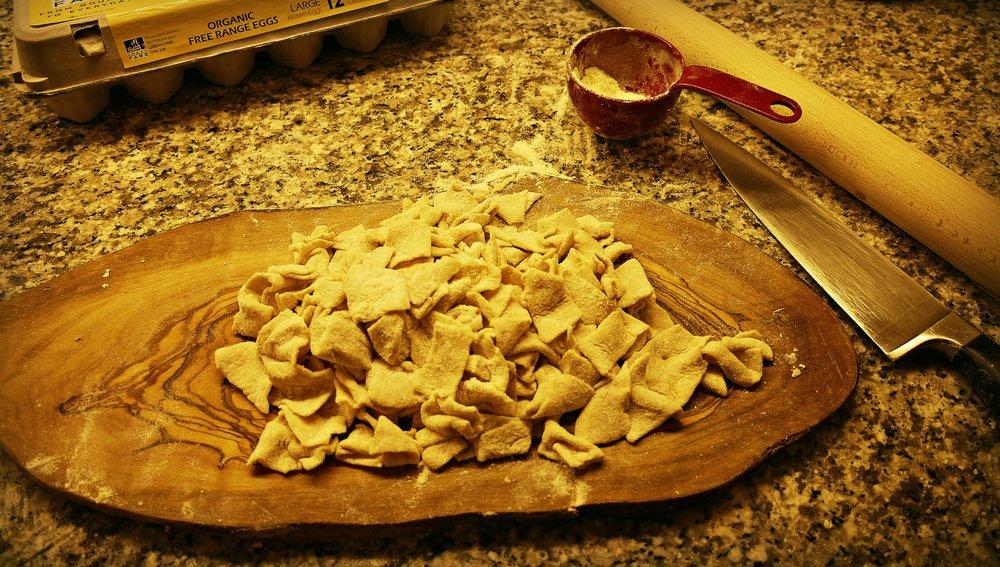 Hand made pasta.