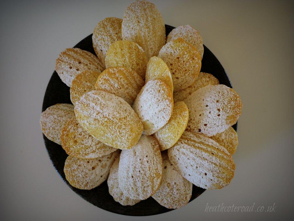 Madelines. Delicate lemon bites.