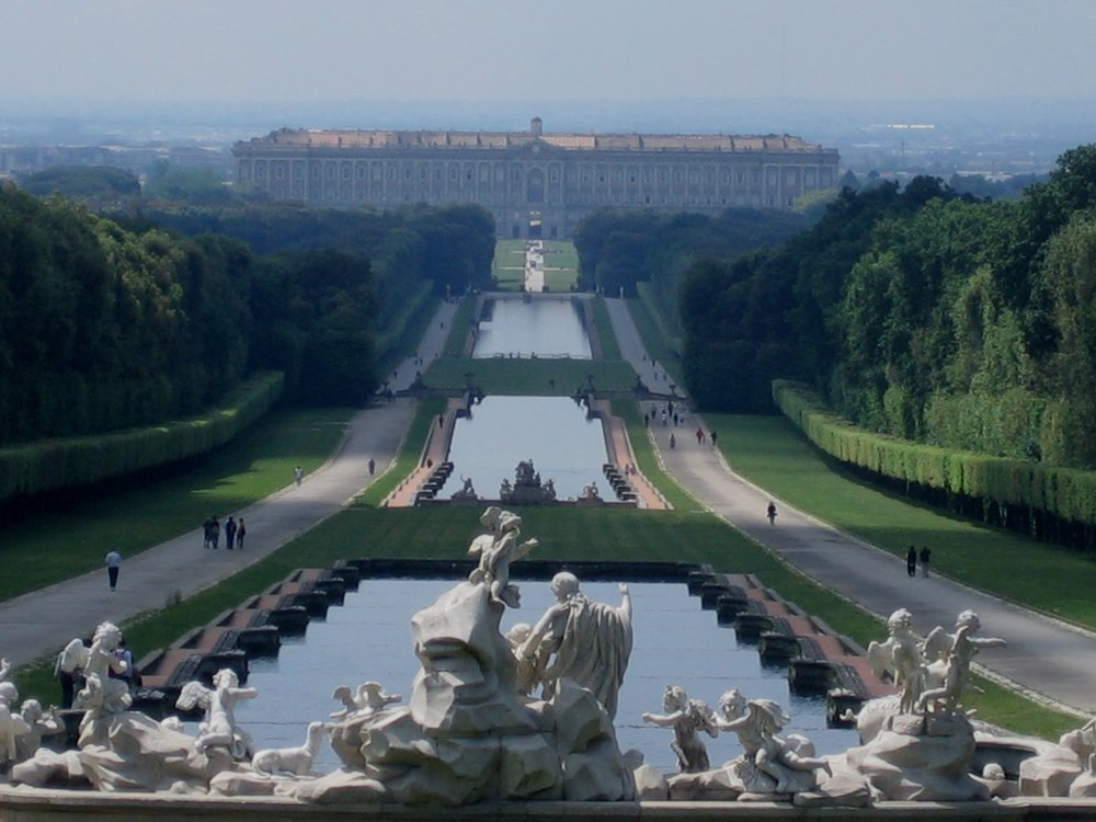 View back to the castle, Caserta