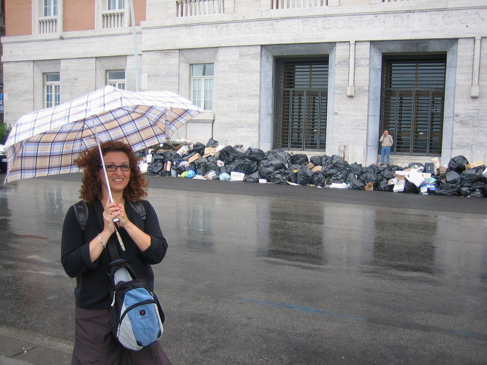Rainy Day and a garbage strike, Naples, Italy