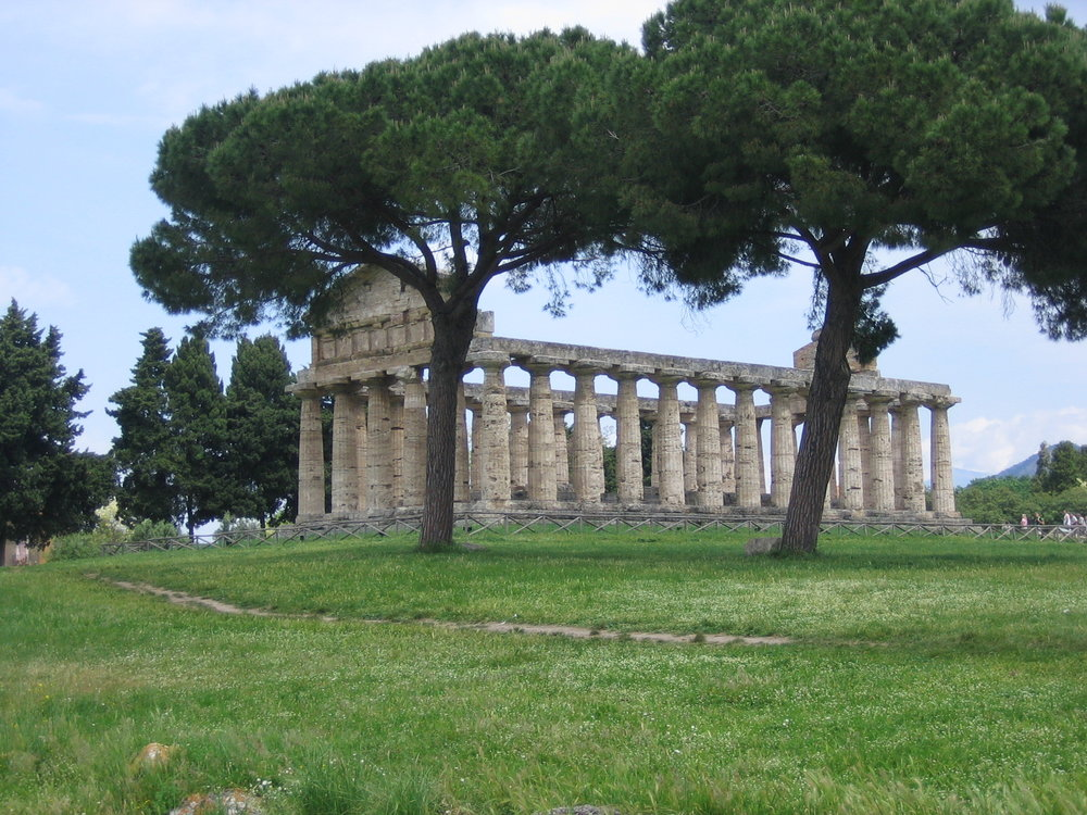 One of three temples, Paestum, Italy