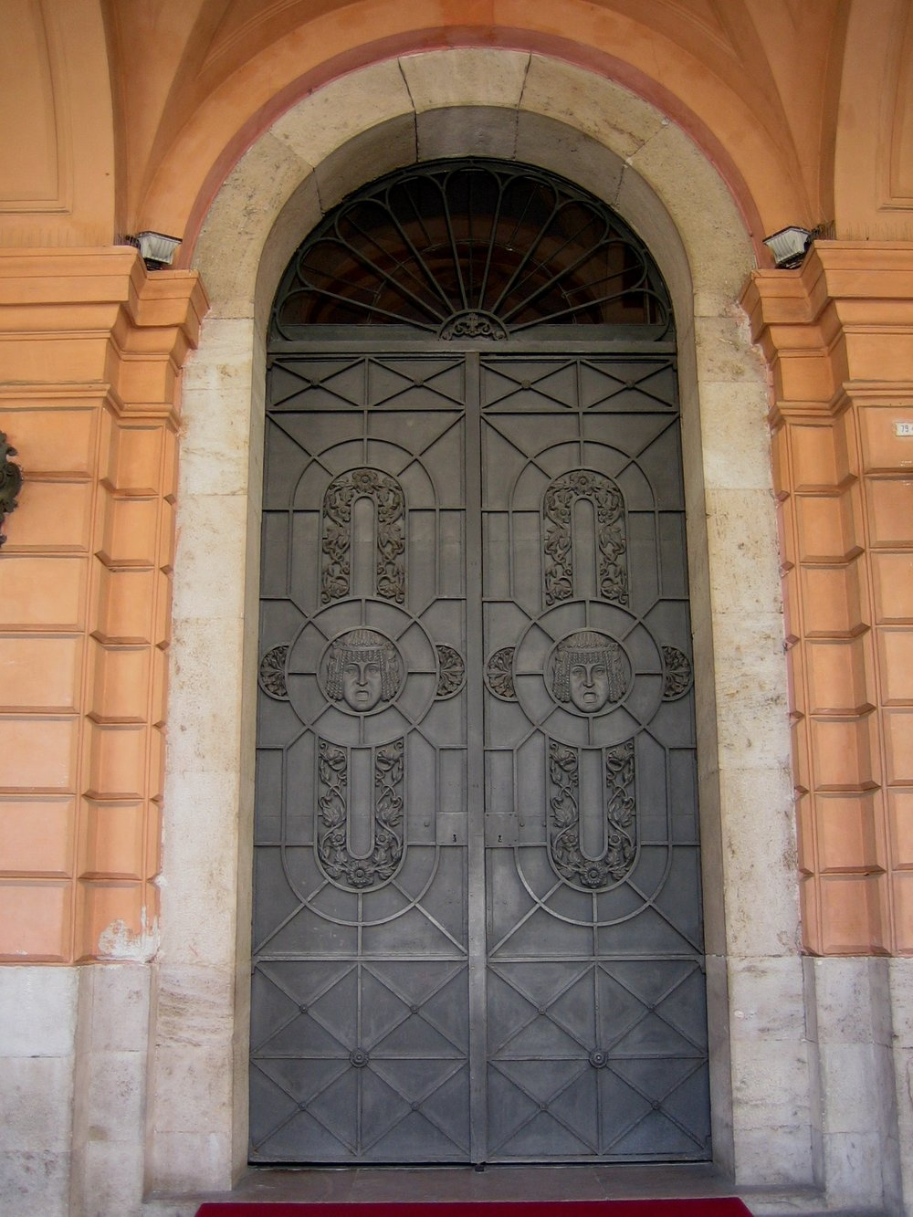 Entrance Doors to the Verdi Opera House, Salerno, Italy