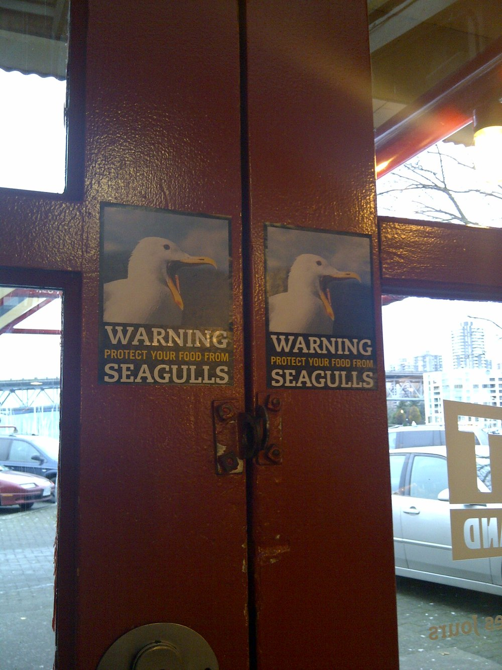 A warning that should be heeded, Granville Island, Vancouver BC