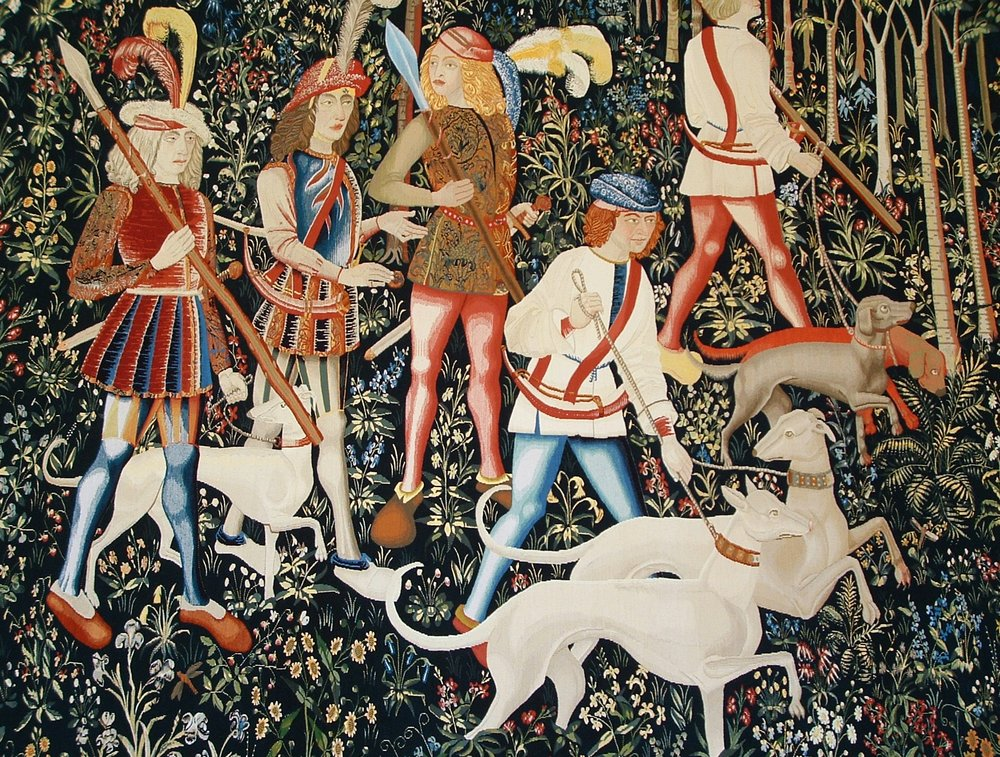 Tapestry, Stirling Castle, Scotland.  A section of this photograph is at the top of this page.