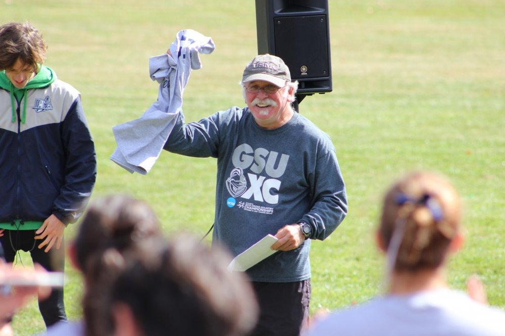 Head coach Mike Woods has led the cross country team to a high national ranking, giving the runners a chance to contend at the NCAA meet in November.