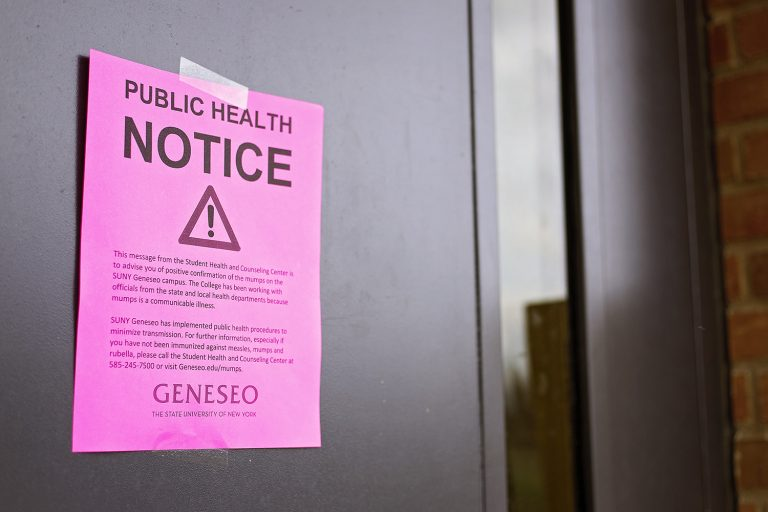 Lauderdale Health & Counseling Center has confirmed four student cases of mumps. Public health notices have been hung throughout campus, which explain how the college has been addressing the outbreak and where students and faculty can find more information about the virus.