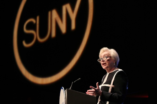 SUNY Chancellor Nancy Zimpher highlighted two new programs in her last State of the University Address. These programs include the Impact Foundation, which will secure private sector investment, and the SUNY Center for Systems Change, a new data analysis initiative.