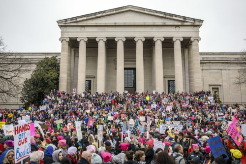 The Women's March on Washington in Washington D.C. occurred on Saturday Jan. 21 and inspired dozens of other anti-Trump marches around the world. The original march, however, faces criticism of white-washed feminist politics and lack of intersectional representation. (Brian Cassella/AP Photo)