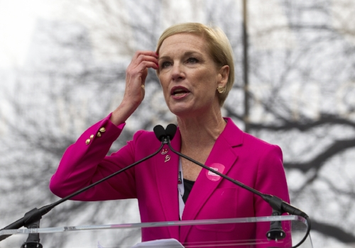 Cecile Richards, president of Planned Parenthood Federation of America, at the Women's March on Washington in Washington, D.C. on Jan. 21. An anti-abortion march was held after the Women's March on Friday Jan. 27, highlighting the ongoing struggle to separate Planned Parenthood's abortion services from its general reproductive health services. (Jose Luis Magana/AP Photo)
