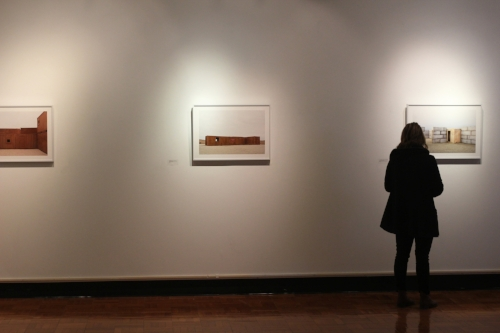 """The Lederer Gallery's first exhibition of the semester—""""Heterotopia"""" by Shreepad Joglekar—opened on Jan. 25. The series of photographs binds two locations on opposite sides of the world (Kansas in the West and Russia in the East) by displaying how the landscape of each has become a symbol of the cultures surrounding them. (Ash Dean/Photo Editor)"""