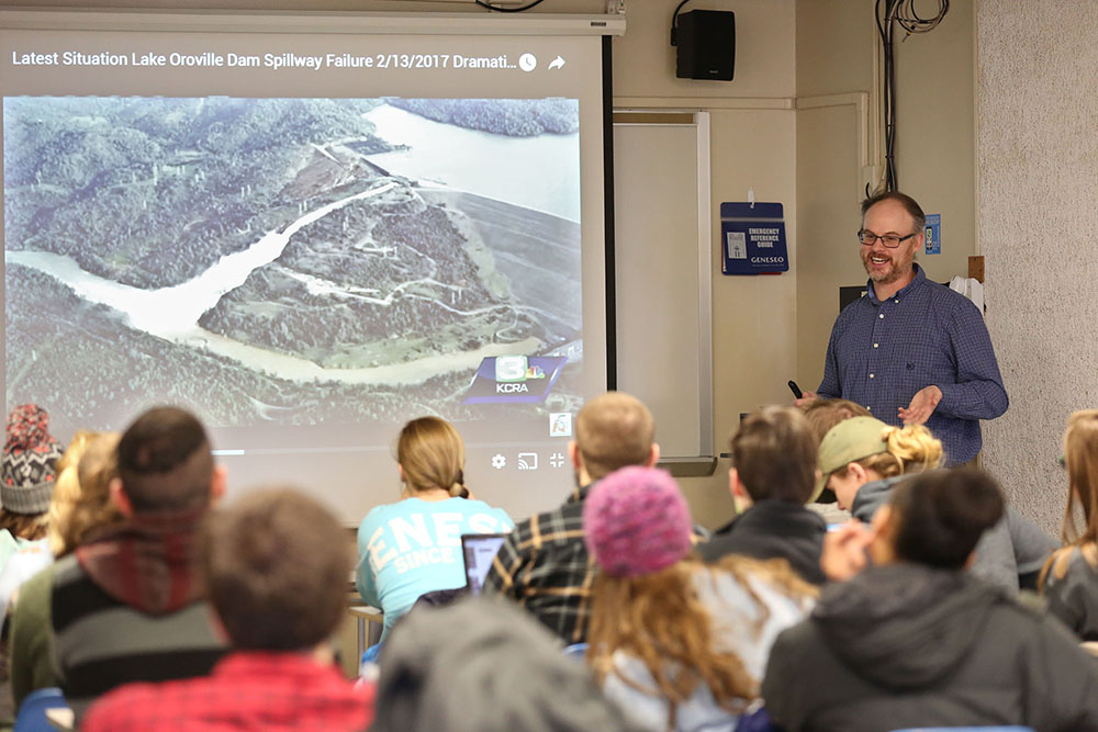 Assistant professor of geological sciences Nicholas Warner and his research team proposed a landing site for the Mars rover mission set to take place in 2020. The mission will investigate whether there was once life on Mars. (Annalee Bainnson/Assoc. Photo Editor)
