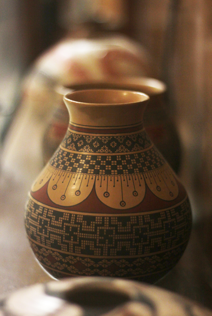The Lederer Gallery is in the process of adding 95 pottery pieces to their permanent collection. A gift from the late professor of music Alan Case, the pieces were created by contemporary artists, but are inspired by Native American pottery traditions. (Ash Dean/Photo Editor)