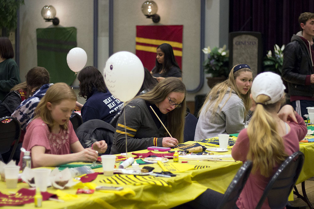 Geneseo Campus Activities Board teamed up with Geneseo Late Knight to host a  night full of wizardry . At this event, attendants were able to eat themed snacks, create themed crafts and listen to the Harry Potter soundtrack. (Ellayna Fredericks/Staff Photographer)