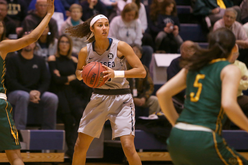 Sophomore forward McKenna Brooks has been a key aspect for the success of the Geneseo women's basketball team. Brooks stays on top of her athletics and her school work, putting her time off of the court into her business administration major. (Courtesy of Geneseo Athletic Department)