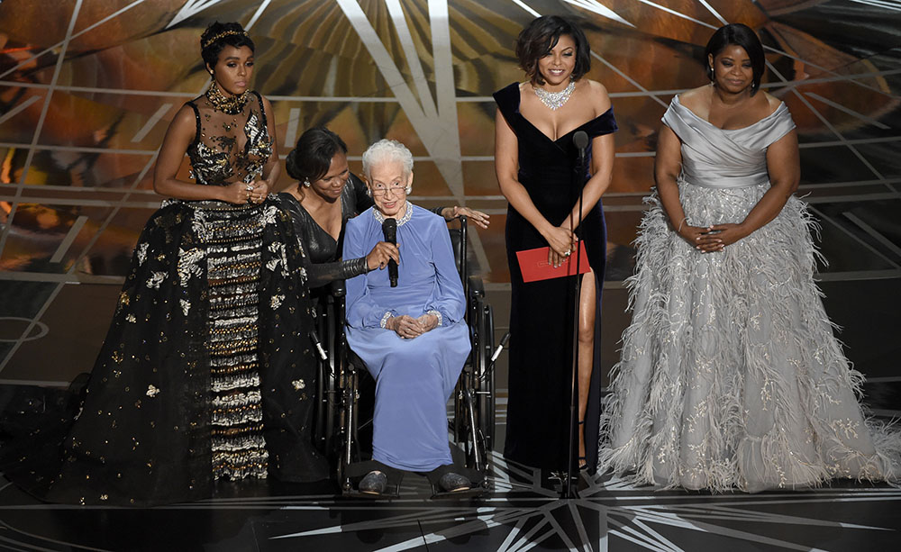 The 89th Academy Awards has gained praise for its markedly diverse nominees and winners. Among the milestones were NASA hero Katherine Johnson's standing ovation with the cast of Hidden Figures and Mahershala Ali's win as the very first Muslim actor to win an Oscar. (Chris Pizzello/AP Photo)