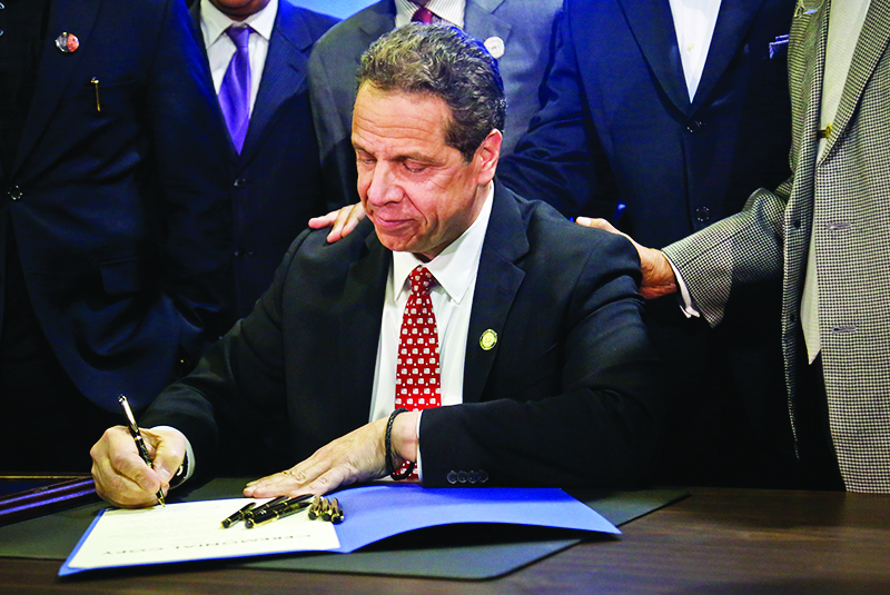 New York State's approval of its 2018 fiscal year budget passed on Sunday April 9. Within the budget are several policies that will influence higher education and college students in the future, including the Excelsior Scholarship, which will provide free tuition to public universities for students whose families earn less than $100,000. (Bebeto Matthews/AP Photo)
