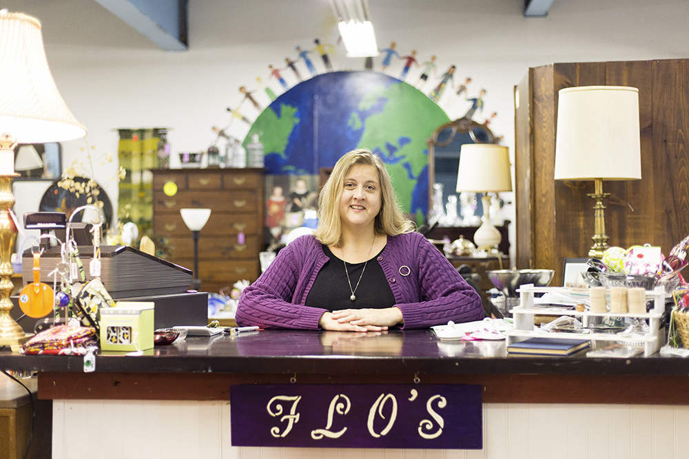 Julie Meyers--formerly of Xerox and Not Dot Shop--owns Florence's Perpetual Estate Sale on Main Street. Since opening, Meyers has enjoyed establishing a connection with student and local shoppers. (Annalee Bainnson/Assoc. Photo Editor)
