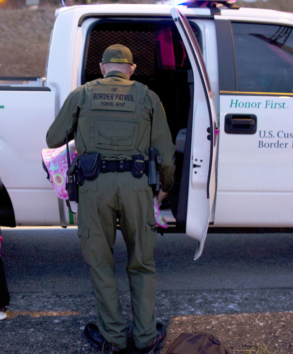 Pictured above is a border patrol agent who detained a migrant worker family who did not have driver's licenses in Geneseo. TheWorkers Justice Center would like to see increased provisions allowing immigrants to hold temporary licenses to prevent detainment. (Courtesy of Evan Goldstein)