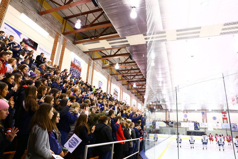 The Ira S. Wilson Ice Arena is one of the most loved aspects of both the Geneseo campus and the community. The rink has been nominated for the chance to win $150,000 for rink renovations in the Kraft-Heinz Hockeyville USA 2017 contest. (Jake Wade/Lamron Archives)