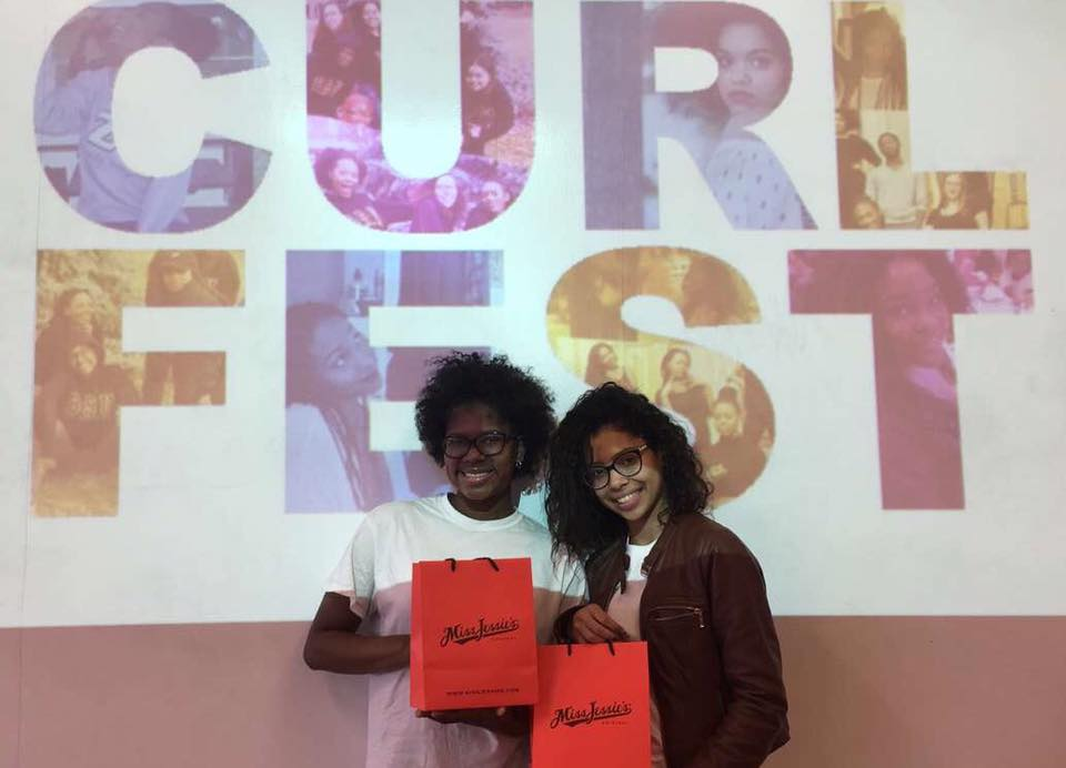 BSU organized its first annual 'Curls and Cosmetics' event to bring different hair-care products geared toward people of color to Geneseo. In addition, they provided information on identifying hair types based on density, porosity and other factors. Event attendees freshmen Kiana Paige and Waderlie Mendez both participated in the event. (Courtesy of Kiani Page)