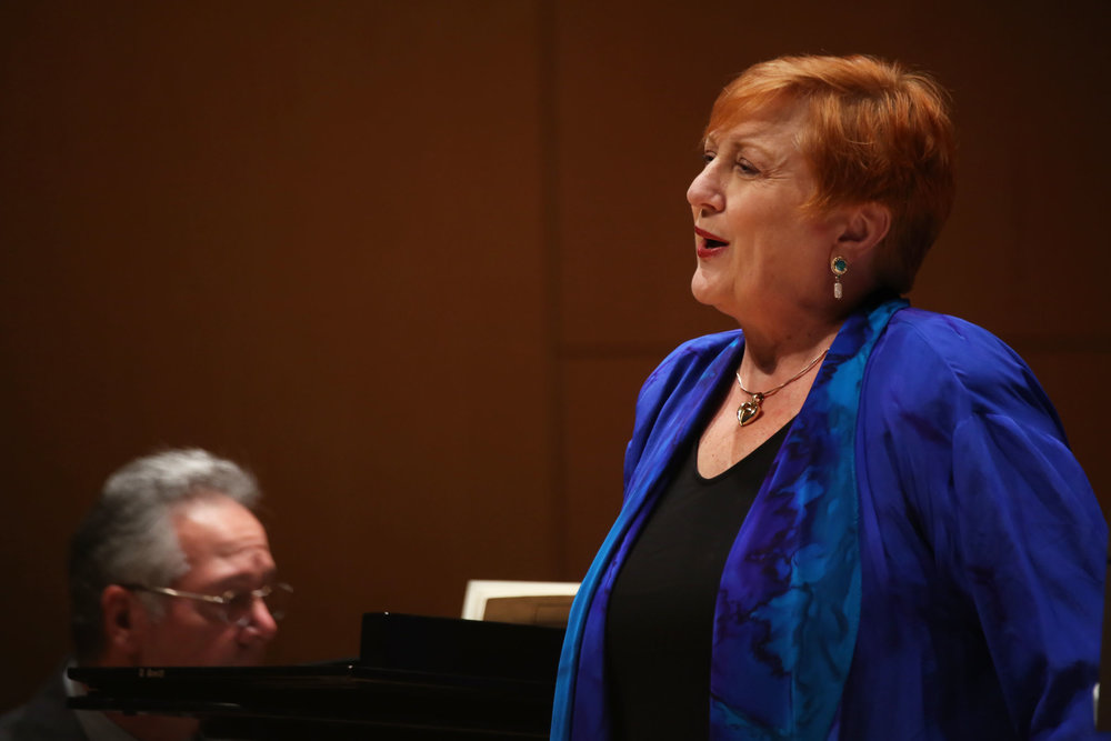 "Assistant professor of music, soprano Pamela Kurau (above) sang in ""A River Runs Through It"" on Sunday Sept. 10, as presented by Geneseo's Department of Music. Alongside her was pianist Joseph Werner and Eastman School of Music professor of horn W. Peter Kurau. (Ash Dean/Staff Photographer"