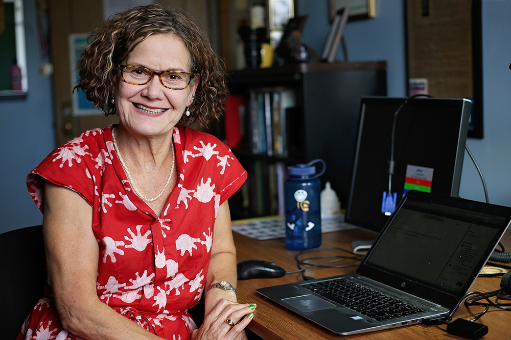 Lecturer of international relations and sociology, conflict studies and legal studies minors coordinator and pre-law advisor Joanna Kirk employs her varied experiences to fulfill many roles throughout Geneseo. (Annalee Bainnson/Photo Editor)