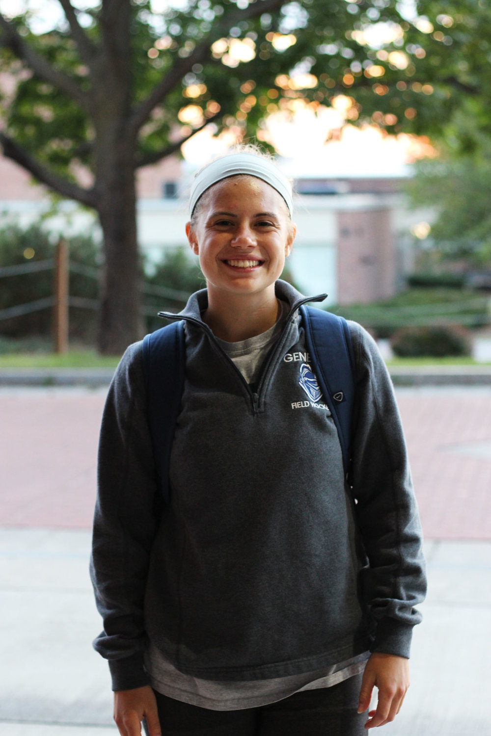 Junior midfielder Madison Albrecht makes sure to stay active as much as possible, as she is not only a member of the Geneseo varsity field hockey program, but the Geneseo women's club ice hockey program as well. When she is not on the turf or ice, Albrecht can be found studying for her biology major and psychology minor in Bailey. (Ellayna Fredericks/Associate Photo Editor)