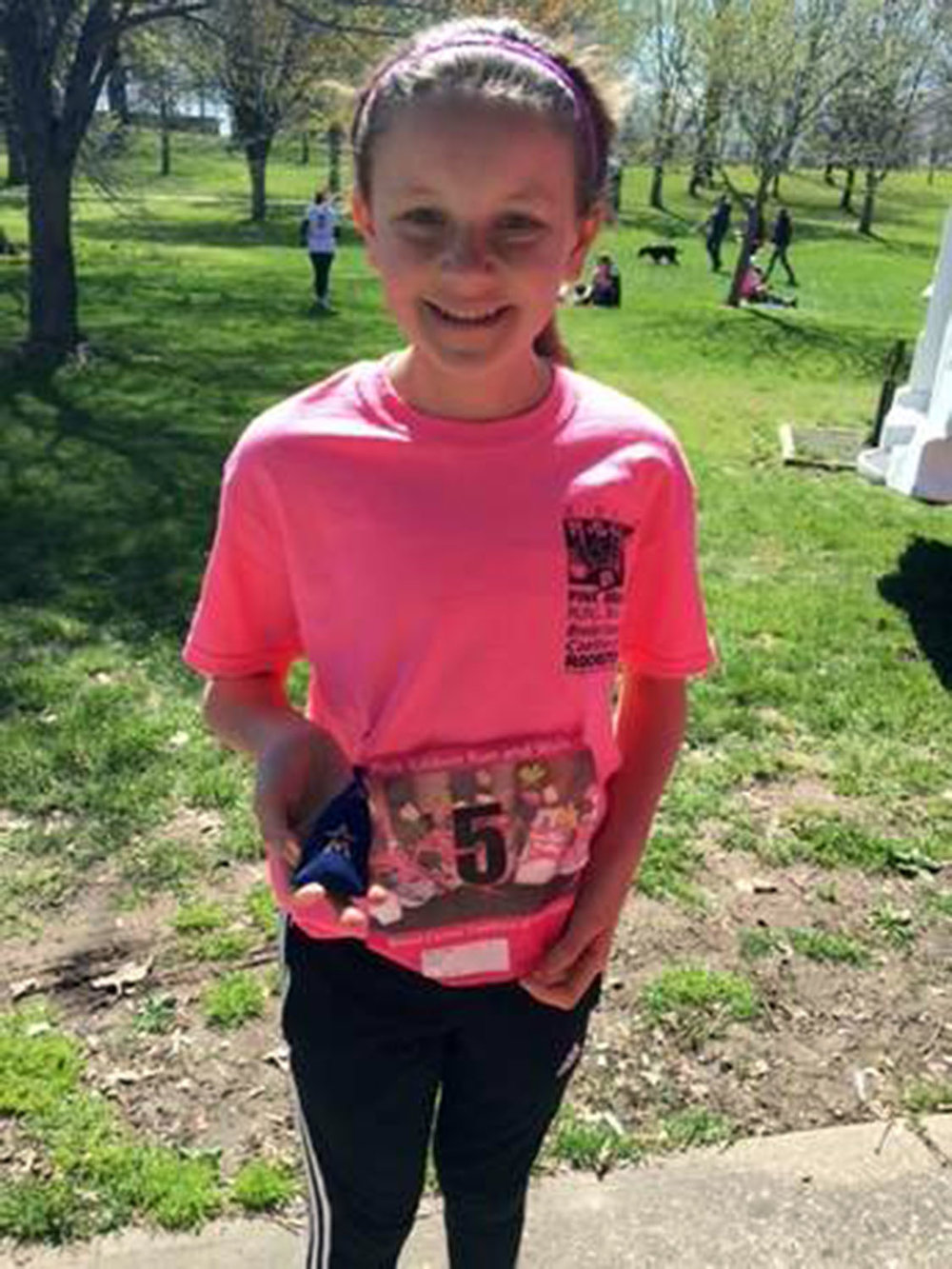 "Claire Allen, pictured above at the 2016 Breast Cancer Coalition ""Pink Ribbon Run,"" was hit by a driver and killed on the afternoon of Thursday Sept. 7 while on a run with a friend. The Allen family has asked for privacy. (Courtesy of LIvingston County News)"