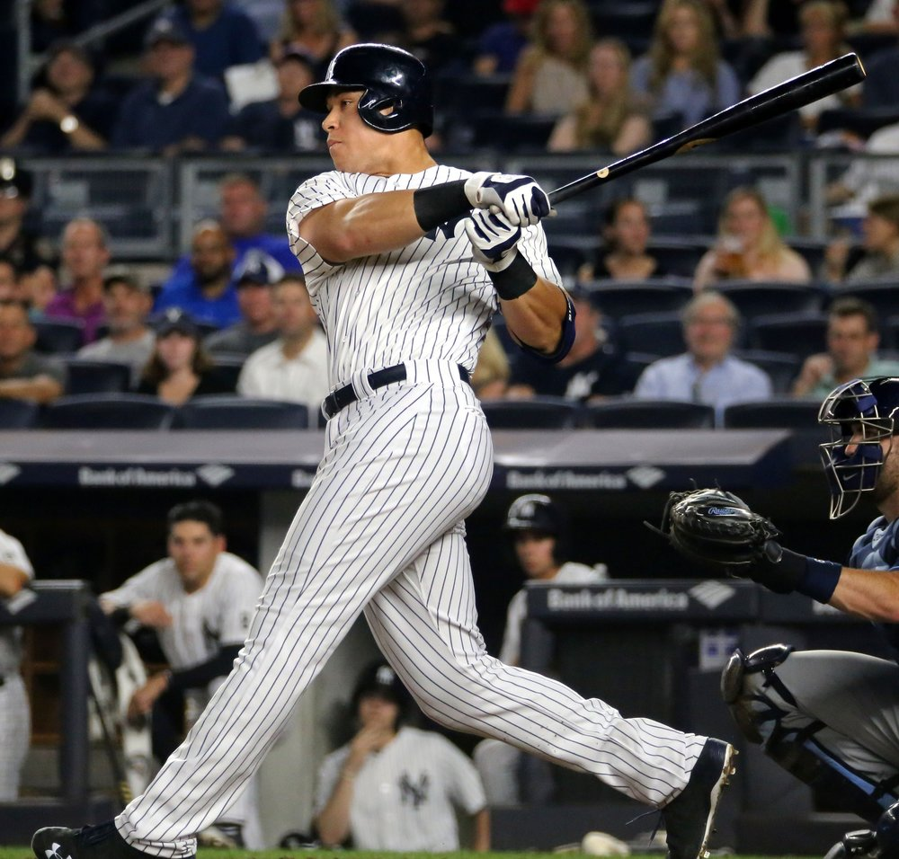 Yankee rookie outfielder Aaron Judge hit his 50th home run, setting the record for home runs hit in a player's first season. Fans and teammates alike expect Judge to continue adding on to his record for the remainder of his first season. (Courtesy of Creative Commons)