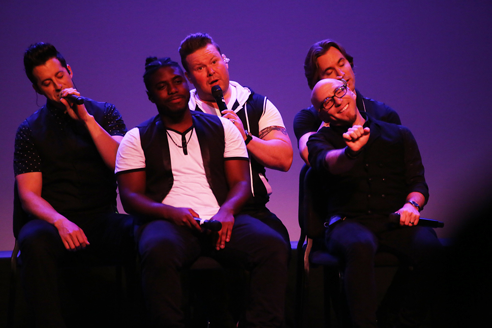 Geneseo's Limelight and Accents Performing Arts Series featured a cappella group VoicePlay for their first event of the season. The show was filled with energetic tunes, engaging audience members in its performance. (Ash Dean/Staff Photographer)