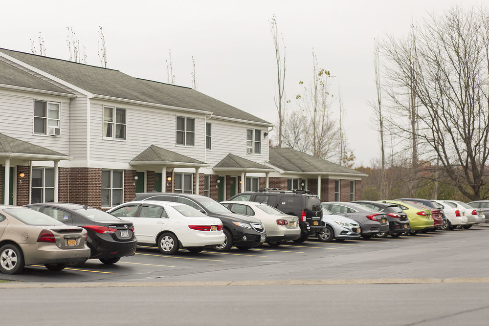 Seven cars at the Meadows Drive  Apartments were targeted for burglaries on Oct. 26 and Friday Oct. 27 by unknown thieves. Such events are relatively common early in the academic year before students begin to handle property more securely. (Annalee Bainnson/Photo Editor)