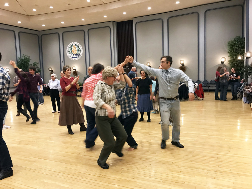 The biannual Geneseo String Band Square Dance was held on the evening of Saturday Nov. 4 in the MacVittie College Union Ballroom. Members of the community and the college were all drawn to the event and danced the night away. (Hannah McSorley/Staff Photographer)