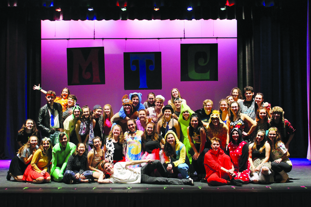 "Student-run Musical Theatre Club (pictured above) presented ""MTC: Time Machine"" on Sunday Nov. 11 in Wadsworth Auditorium. The ensemble covered songs from various decades and musicals, including from the shows ""Bye Bye Birdie"" and ""Be More Chill."" (Sophie Yeomans/Asst. Copy Editor)"