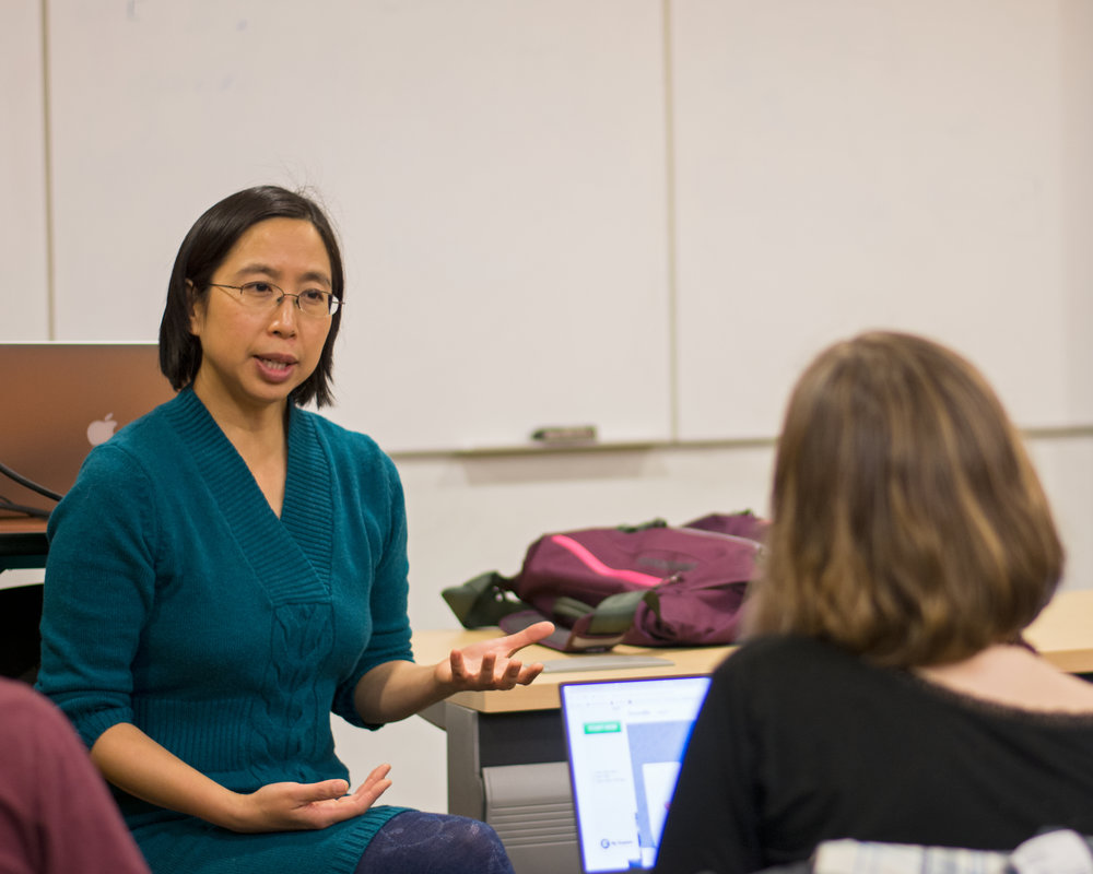 Assistant professor of political science and international relations Karleen West and assistant professor of biology Suann Yang (pictured above) received grant money from the Finger Lakes Project. West and Yang have used the funds to form curriculum focusing on the sustainability of food. (Theo Liu/Assoc. Photo Editor)