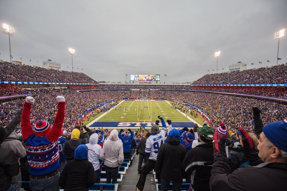 "Buffalo Bills fans filled New Era Field in Orchard Park, N.Y. to cheer on their beloved football team. The self-proclaimed ""Bills Mafia"" proved to be one of the most passionate fanbases through their celebrations and excitement after The Bills made the playoffs for the first time since 1999.  (Courtesy of Creative Commons)"