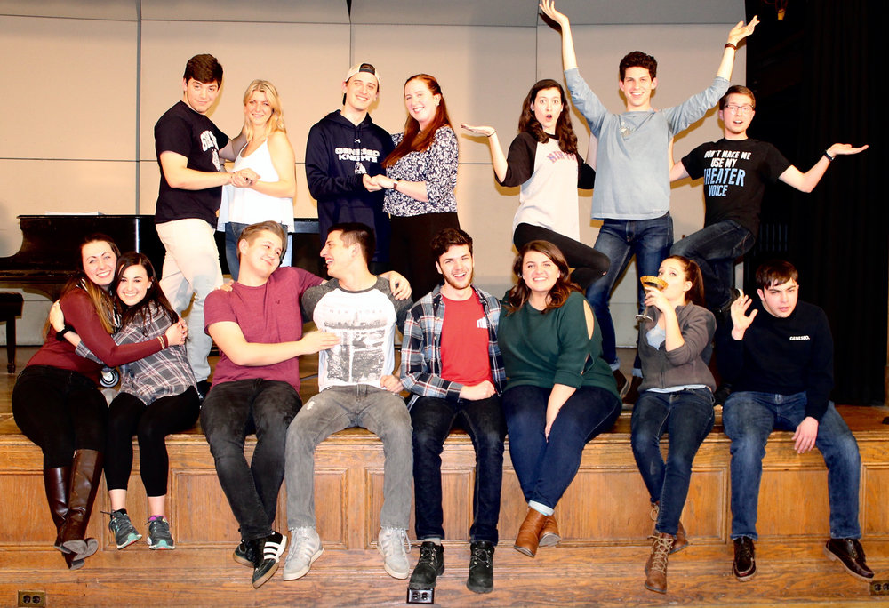 """Pictured above is the cast of the winter musical, """"It Shoulda Been You."""" The show will run from Feb. 14 to Feb. 18 in the Alice Austin Theater. The production follows a soon-to-be married couple from different religions and the intense familial conflicts that surround their potential matrimony. (Courtesy of Erica Milliman"""