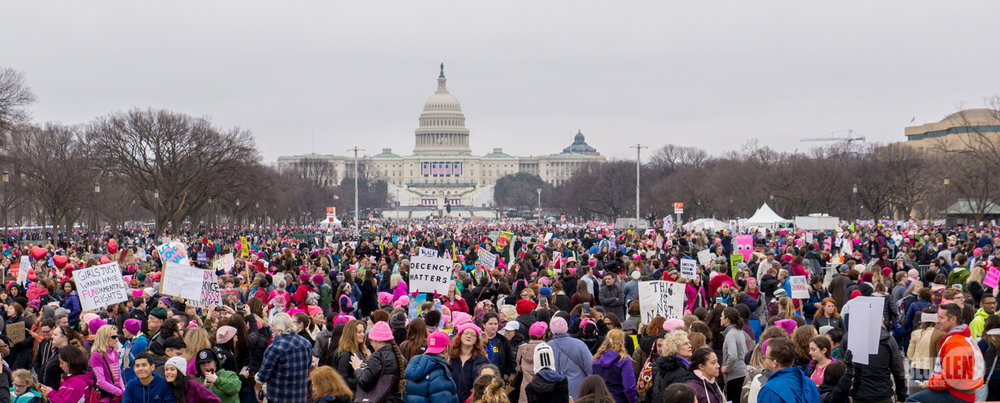 Pictured above is the 2018 Women's March in Washington D.C. This year the Women's March continued to create a positive outlet for individuals to express their issues with current policy and governmental attitudes and to provide emotional support for one another. (Courtesy of Creative Commons)