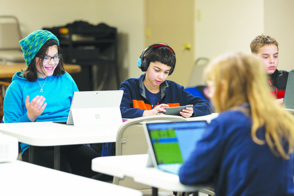 Wadsworth Public Library hosted an Hour of Code program on Saturday Feb. 17. The event focused on teaching elementary and middle school-aged children fundamentals of computer programming, as part of a national initiative to boost interest in technology. (Annalee Bainnson/photo editor)