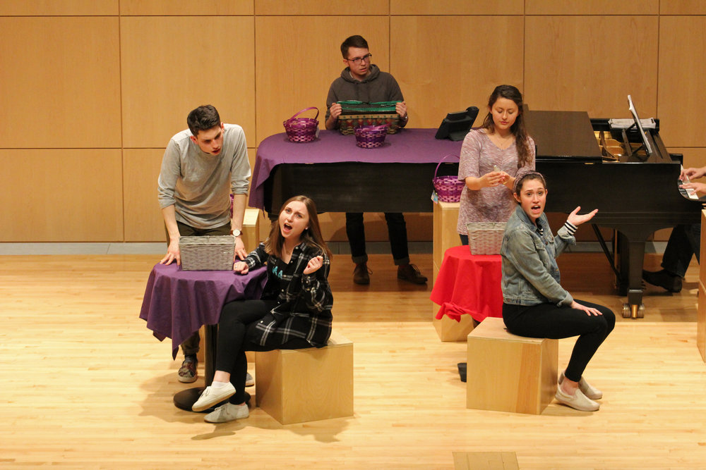 "Geneseo's Department of Music will present ""Page to Stage: She Loves Me"" on Wednesday April 4-8 in the Doty Recital Hall. The show will feature strictly musical theater majors alongside director Scott Scafidi and music director and Coordinator of Musical Theater Don Kot. The story follows two conflicting coworkers who are unknowingly writing anonymous love letters to each other. (Catherine White/Arts & Entertainment Editor)"