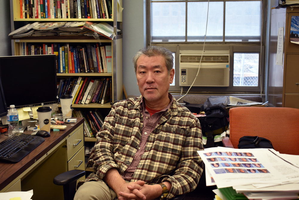 Associate professor of communication Atsushi Tajima developed an interest in motorcycles when he was a child. After working for a motorcycle racing company as a mechanical engineer, Tajima began motorcycle racing himself.(Izzy Graziano/Knights' Life Editor)