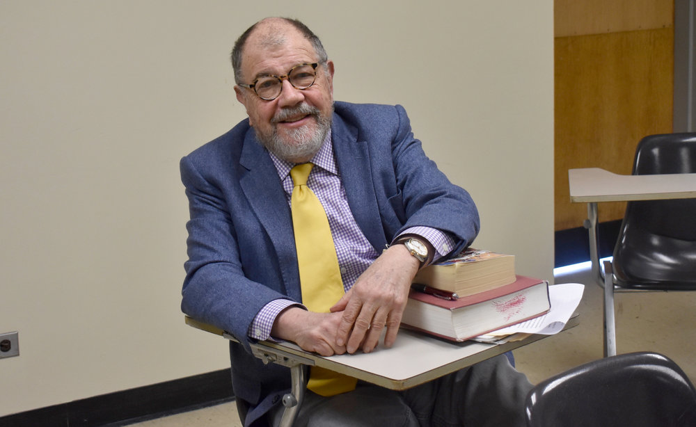 Distinguished teaching professor of English Ron Herzman has completed 49 years of teaching at Geneseo. His work has foregrounded medieval literature and humanities on-campus, and Herzman plans to continue working in education post-retirement. (Izzy Graziano/knights' life editor)