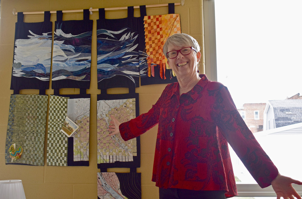 Professor of geography Ren Vasiliev has combined her experience as a geographer with her love for art and the environment. Following her retirement, Vasiliev plans to pursue art on a more full time basis.  (Izzy Graziano/knights' life editor)