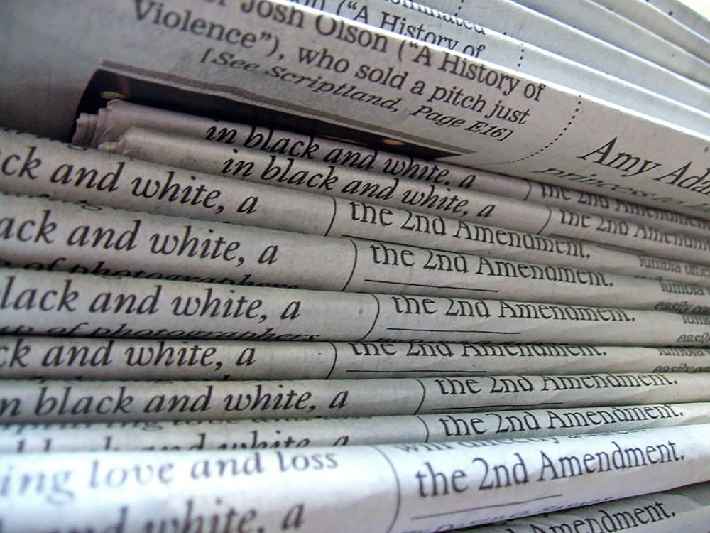 Print copies of the Los Angeles Times (pictured above). While print newspapers, and journalism in general, are under scrutiny by the current administration, their value and necessity cannot be overlooked.  (Daniel Blume/ Creative Commons)