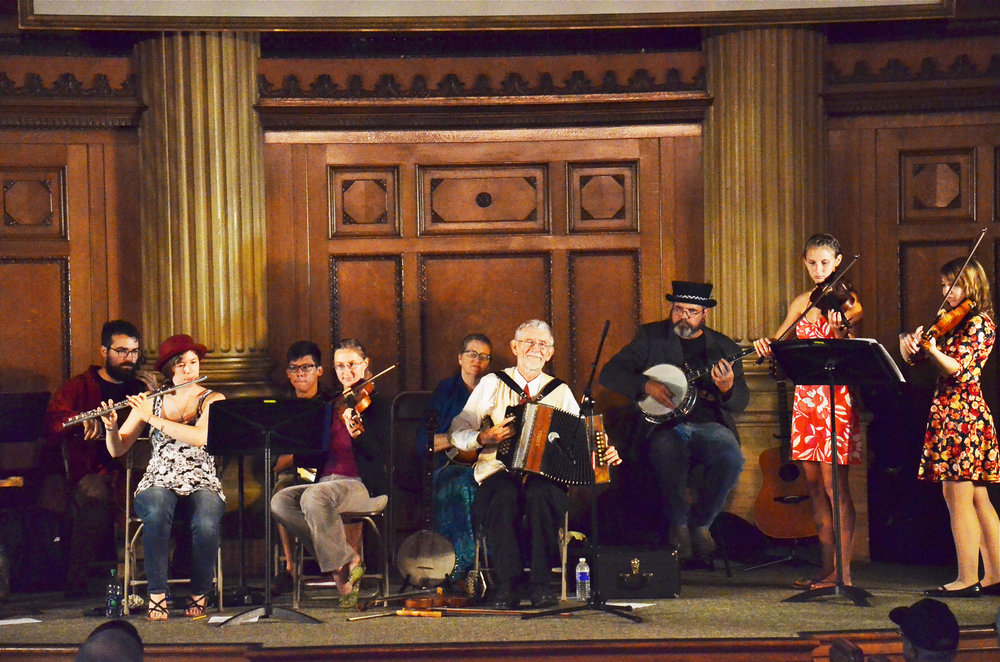 Geneseo String Band (pictured above) plays for the Rochester Fringe Festival in Lyric Hall. The Fringe Festival is set to include several acts from Geneseo including musicians, dancers and actors. The festival will take place on Wednesday Sept. 12 to Sept. 22(courtesy of Jim kimball).