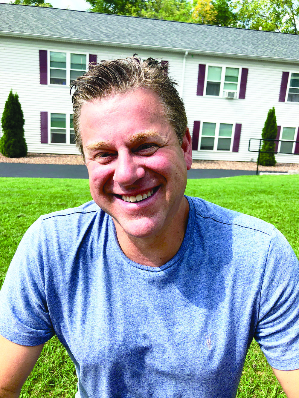 Mark Scoville (pictured above) has been involved with Geneseo real estate since 2002 and owns many student rentals and local businesses. Scoville recently bought and renovated a car garage on the corner of Wadsworth Street where many students go for auto repairs (Elizabeth Gellman/staff writer).