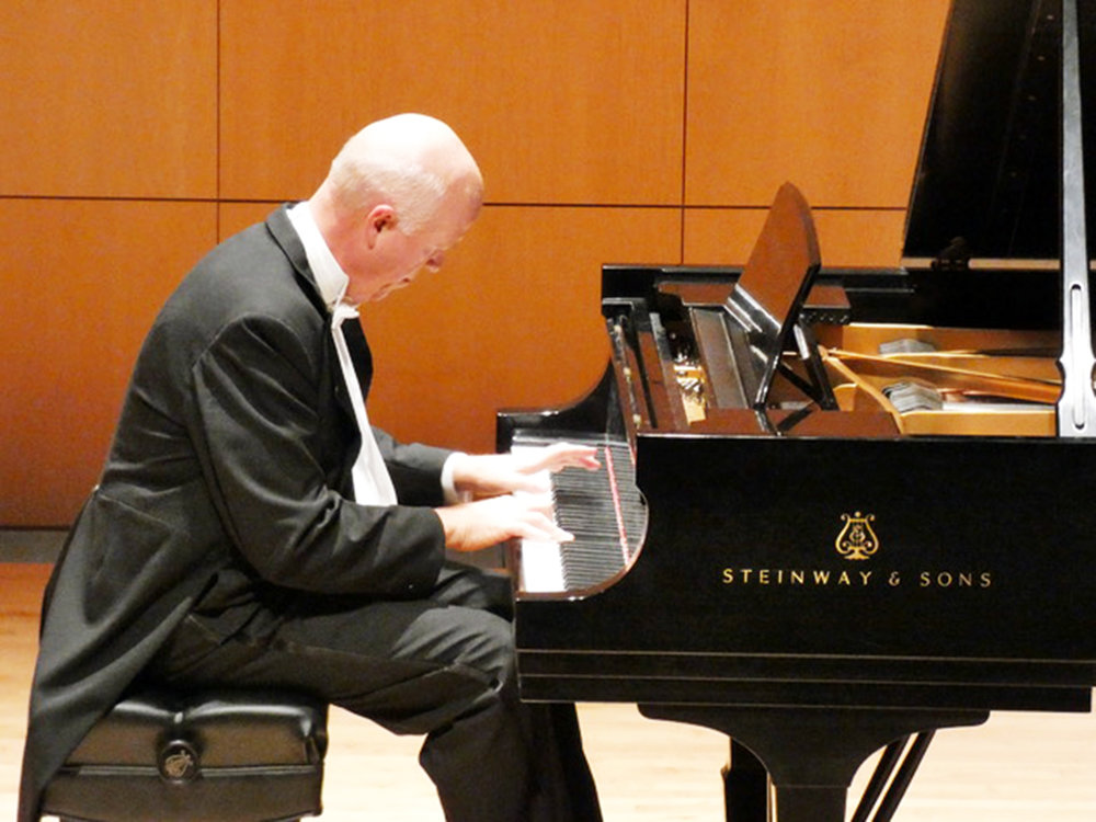 Professor of music Jonathan Gonder (pictured above) is a professional pianist. He performed his own concert at Doty Recital Hall on Sunday Sept. 16. Gonder has been studying piano since his youth and has played several concerts over his lifetime (sophie yeomans/staff photographer).