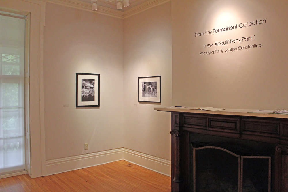 "The ""From the Permanent Collection: New Acquisitions Part 1"" exhibit in the Lockhart Gallery displays photographs taken by Joseph Constantino. These photographs were taken using invisible infrared light to create an eerie atmosphere in each image (Catherine White/editor-in-chief)."