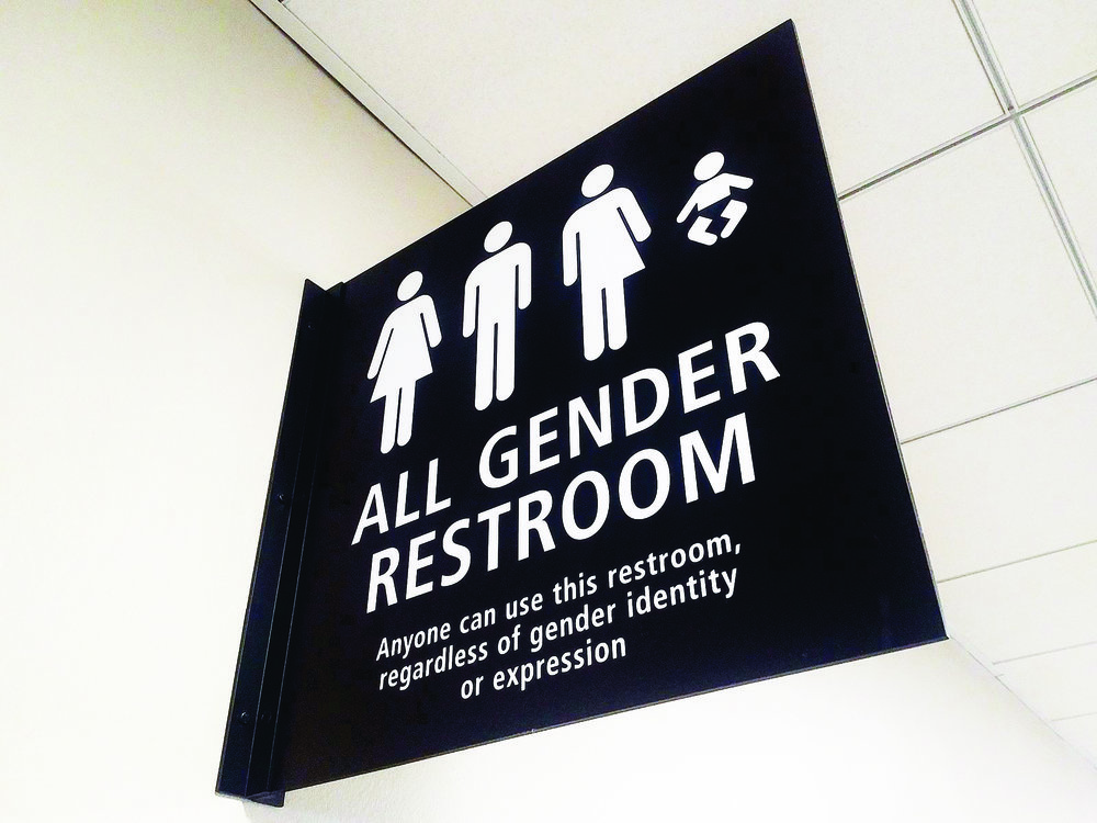 All-gender restrooms (pictured above) are a step towards equality and are featured in select locations on campus. Nonetheless, all on-campus restrooms should accommodate all genders.