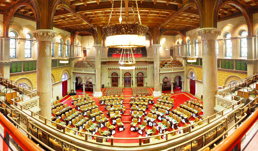 New York State Assembly Hall (pictured above) where representatives from the state convene. Assemblyman Errigo who represents a district in Livingston County was charged on Oct. 10 by the FBI with bribery and fraud. (Courtesy of Creative Commons)